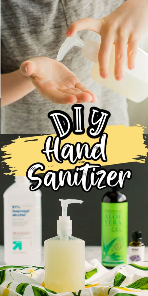Pinterest 600 x 1200 - DIY Hand Sanitizer