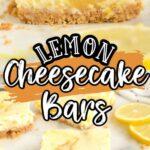 Pinterest 600 x 1200 - Lemon cheesecake bars with swoop