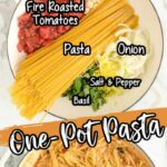 one pot pasta with ingredients