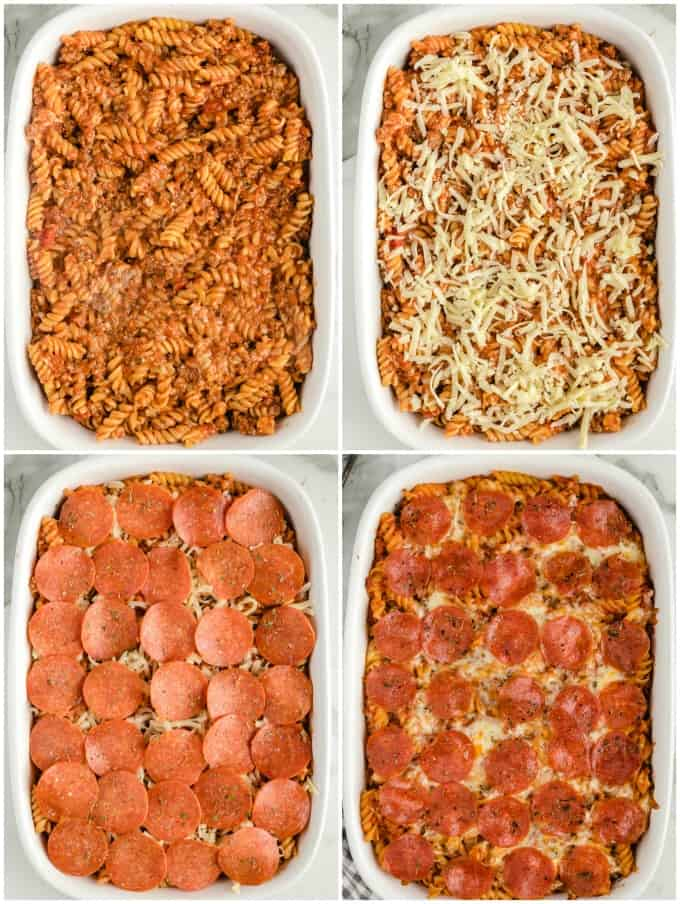 Pizza Casserole layers