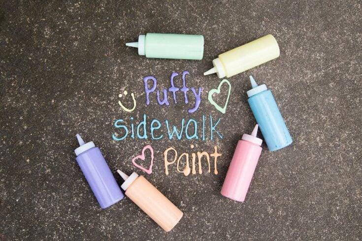 Puffy Sidewalk Paint
