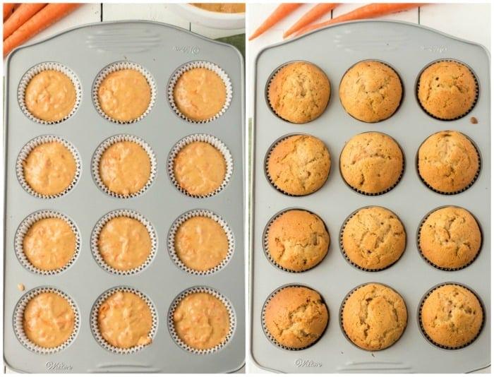cupcakes in baking pans
