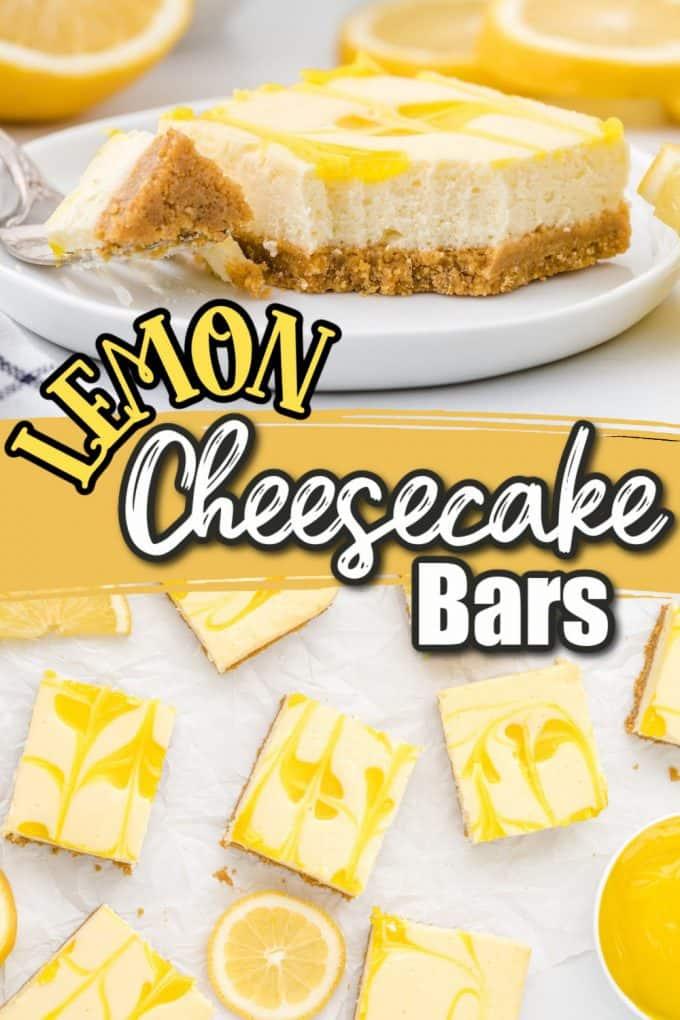 Lemon cheesecake bars pinterest