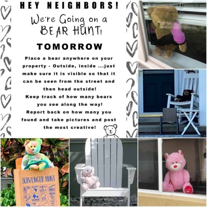Teddy Bear Scavenger Hunt