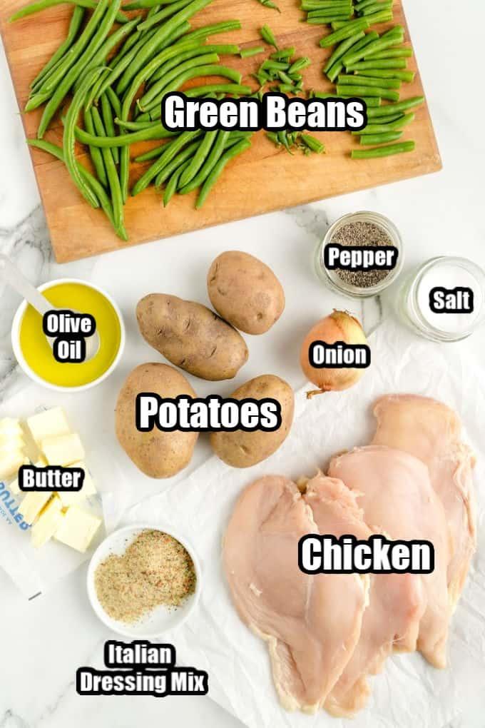 Chicken Sheet Pan Recipe Ingredients