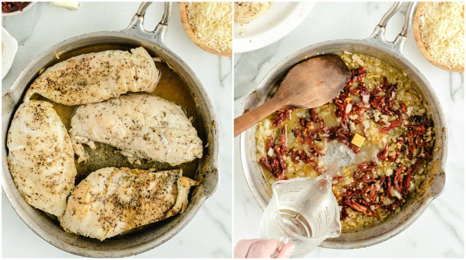 How to Make Tuscan Chicken Step 1
