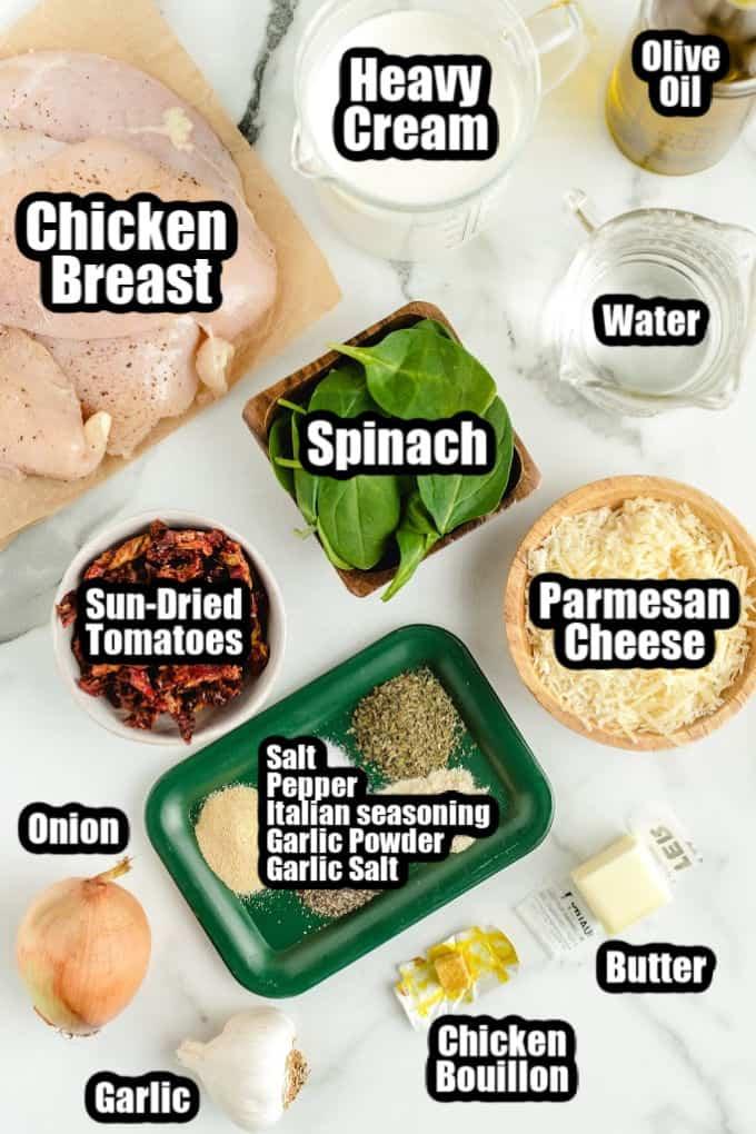 Tuscan Chicken Ingredients