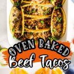 Oven Baked Beef Tacos Pinterest