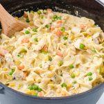 chicken pot pie noodles featured image