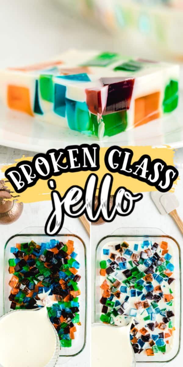 Broken Glass Jello Pinterest