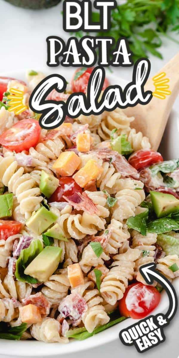 BLT Pasta Salad Pinterest Image