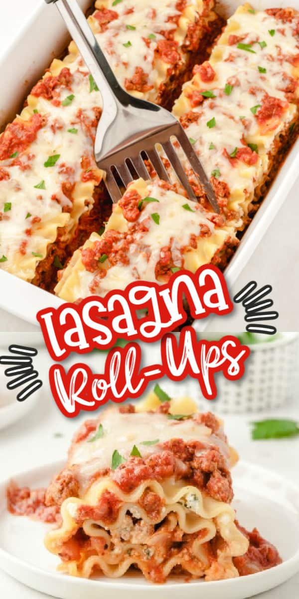 Lasagna Roll-Ups Pinterest image