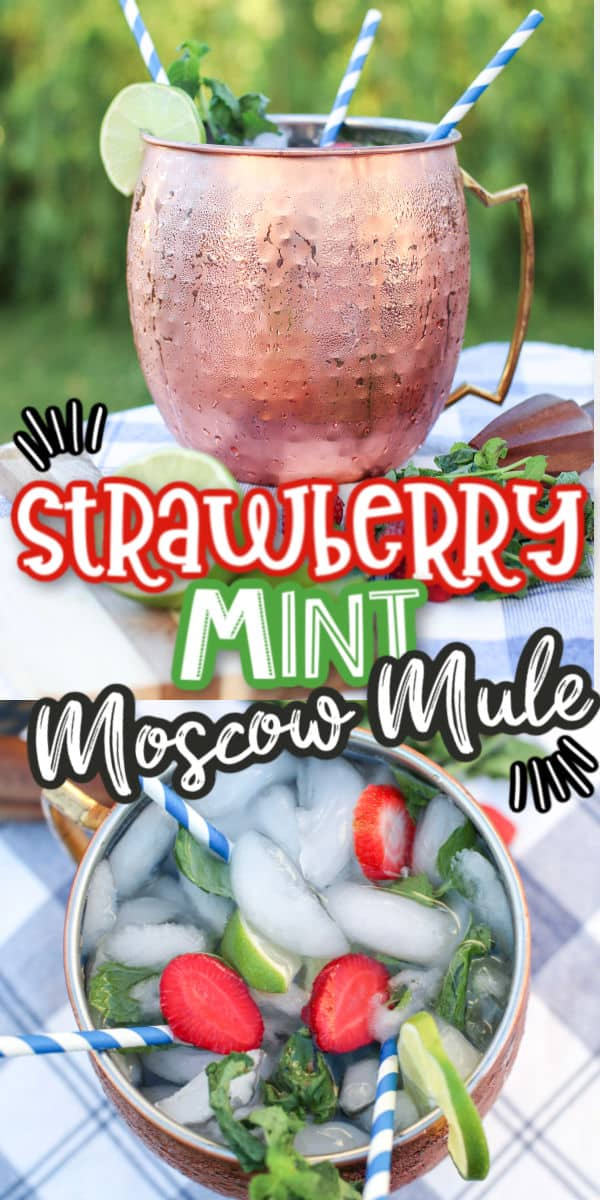 Pinterest - Strawberry Mint Moscow Mule