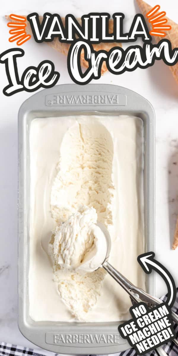 Vanilla Ice Cream Pinterest Image