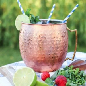 Strawberry Mint Moscow Mule