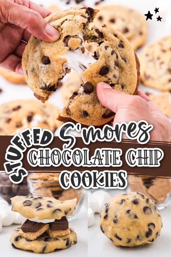 smores stuffed chocolate cookies pinterest
