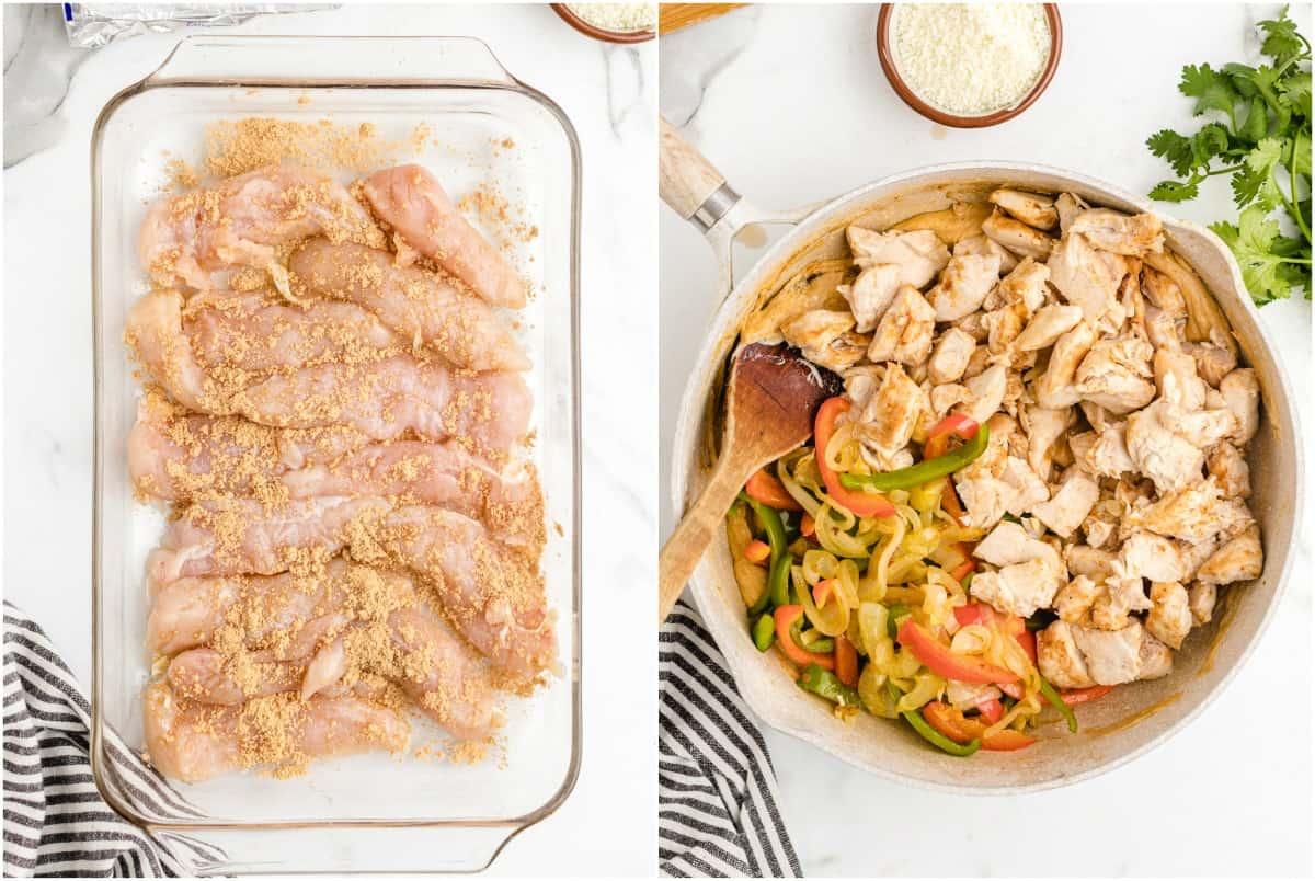 Chicken Fajita Casserole step 1