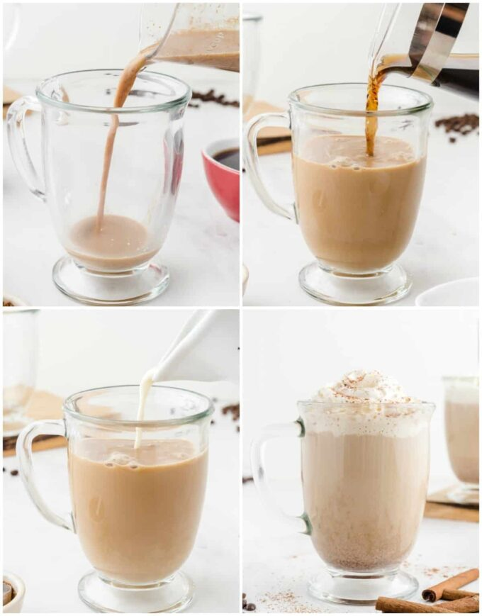 steps to make a latte at home