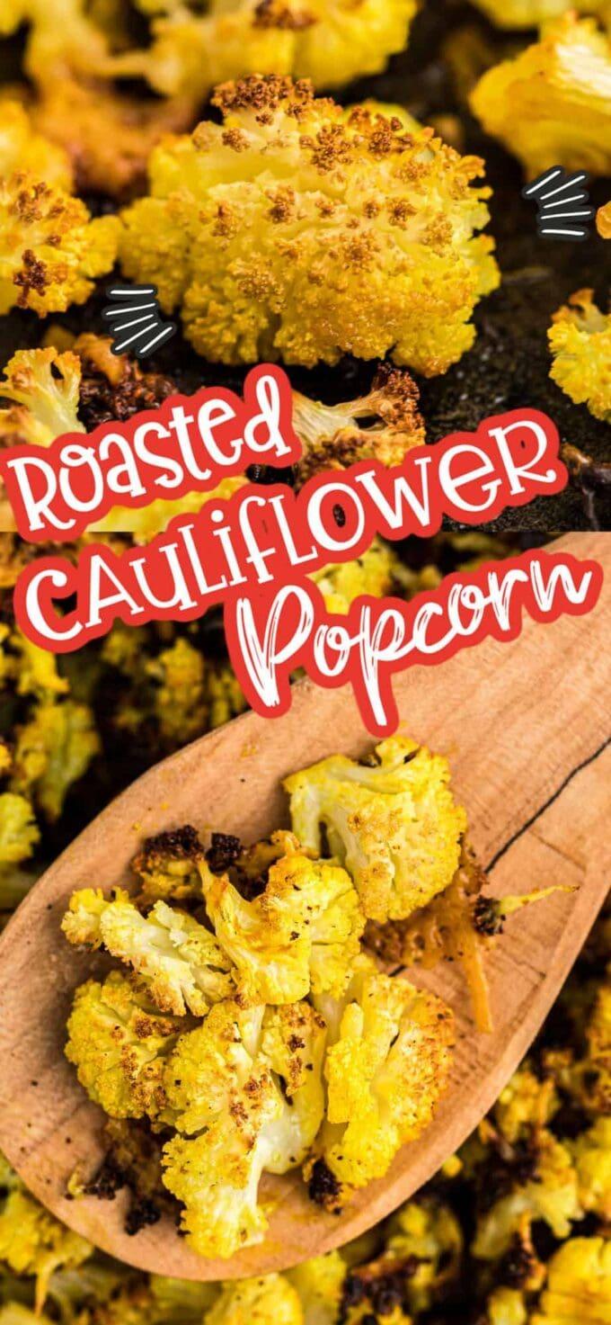 roasted cauliflower popcorn pinterest image