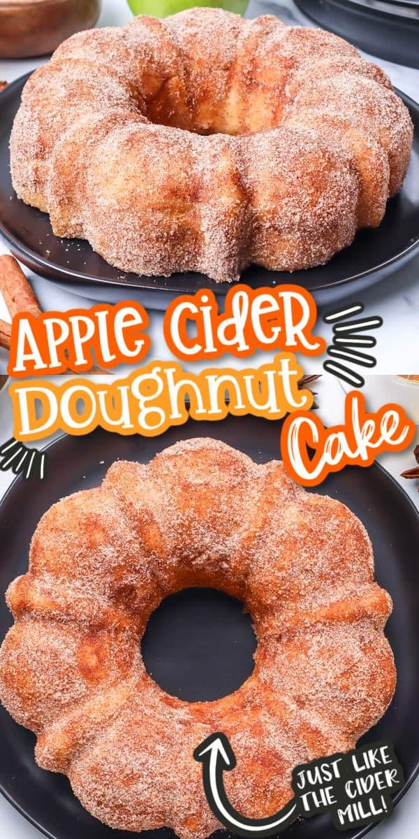 Apple Cider Doughnut Cake New Pinterest Image