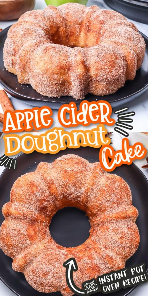 Apple Cider Doughnut Cake Pinterest image
