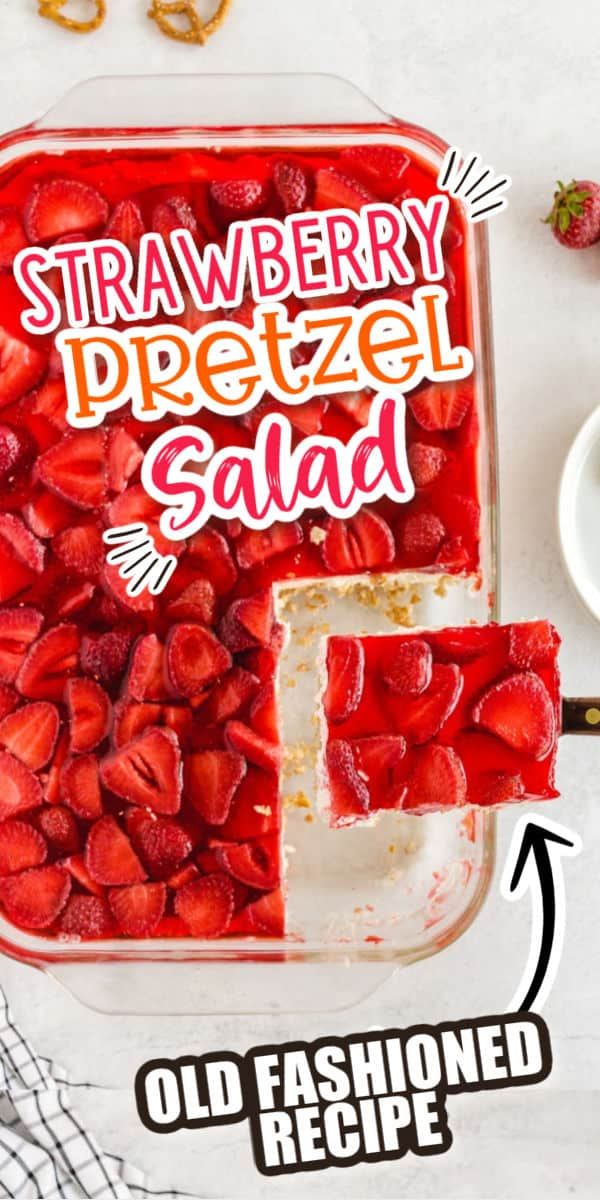 Strawberry Pretzel Salad pinterest image