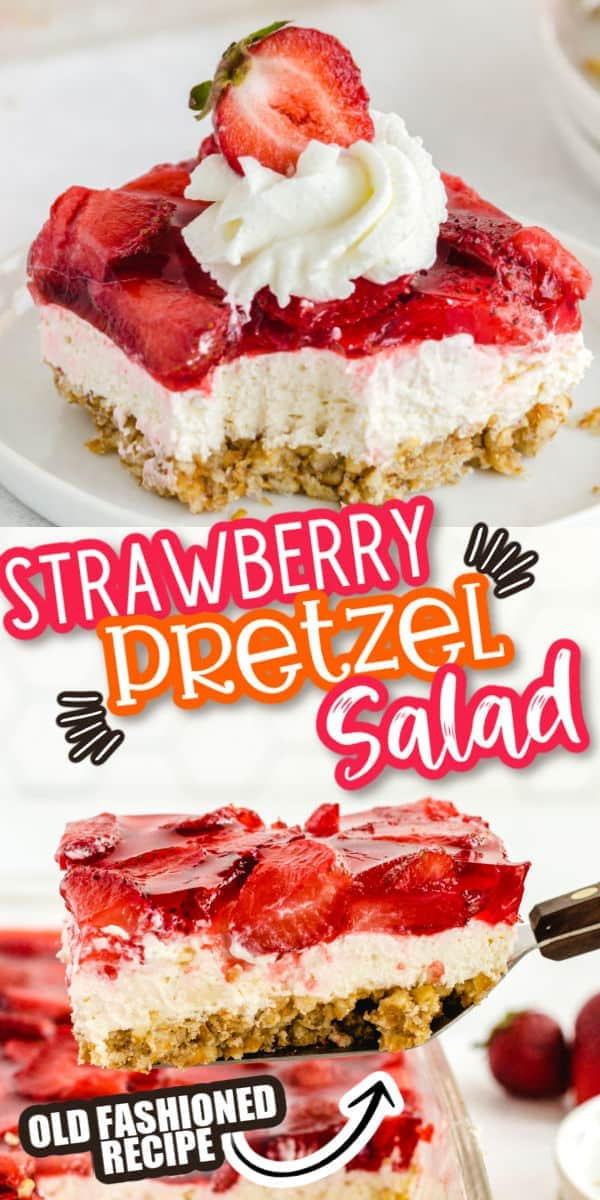 Strawberry Pretzel Salad pinterest imagee