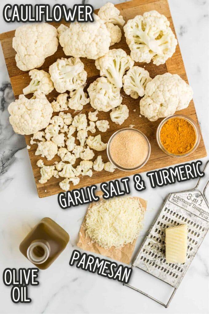 Roasted Cauliflower Popcorn Ingredients