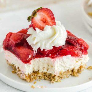 Strawberry Pretzel Salad square