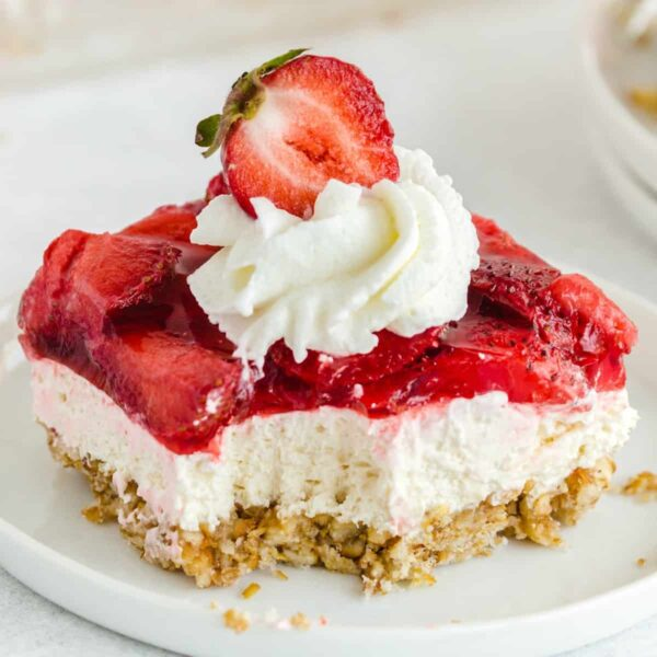 Strawberry Pretzel Salad square