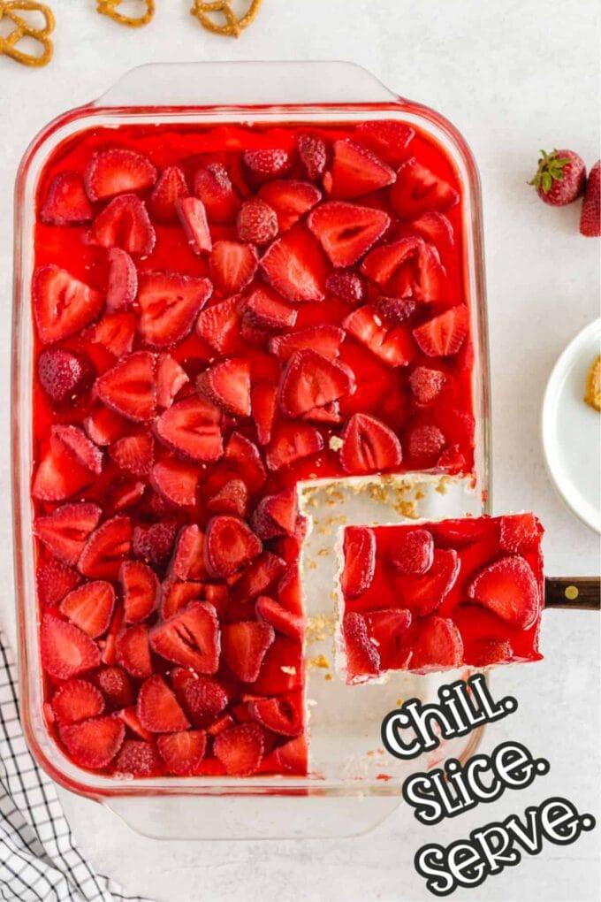 step 5 chill slice and serve the Strawberry Pretzel Salad