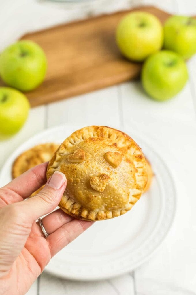 Caramel Apple Hand Pies in hand