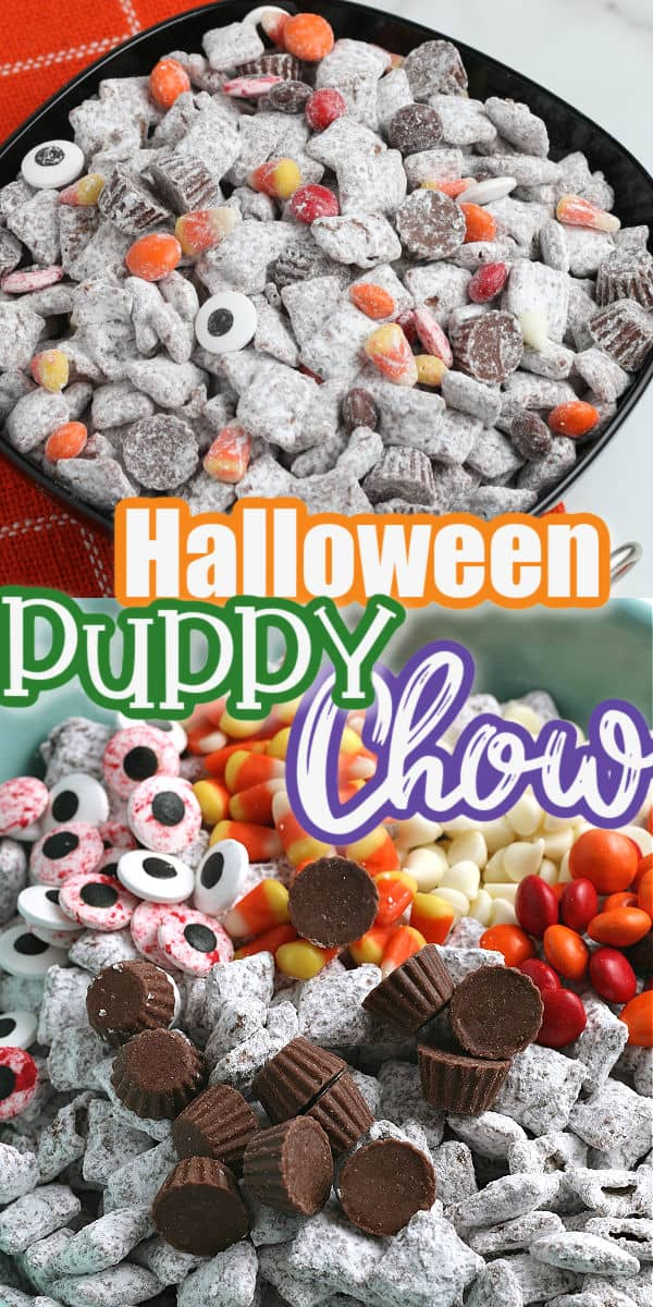Halloween Puppy Chow pinterest image