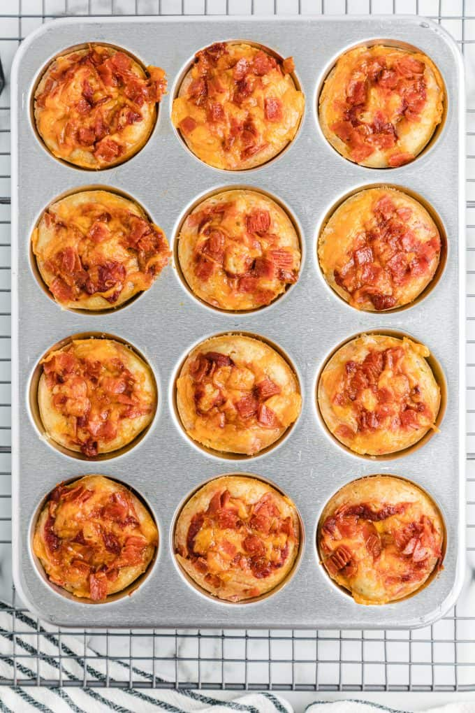 cooked pizza muffins