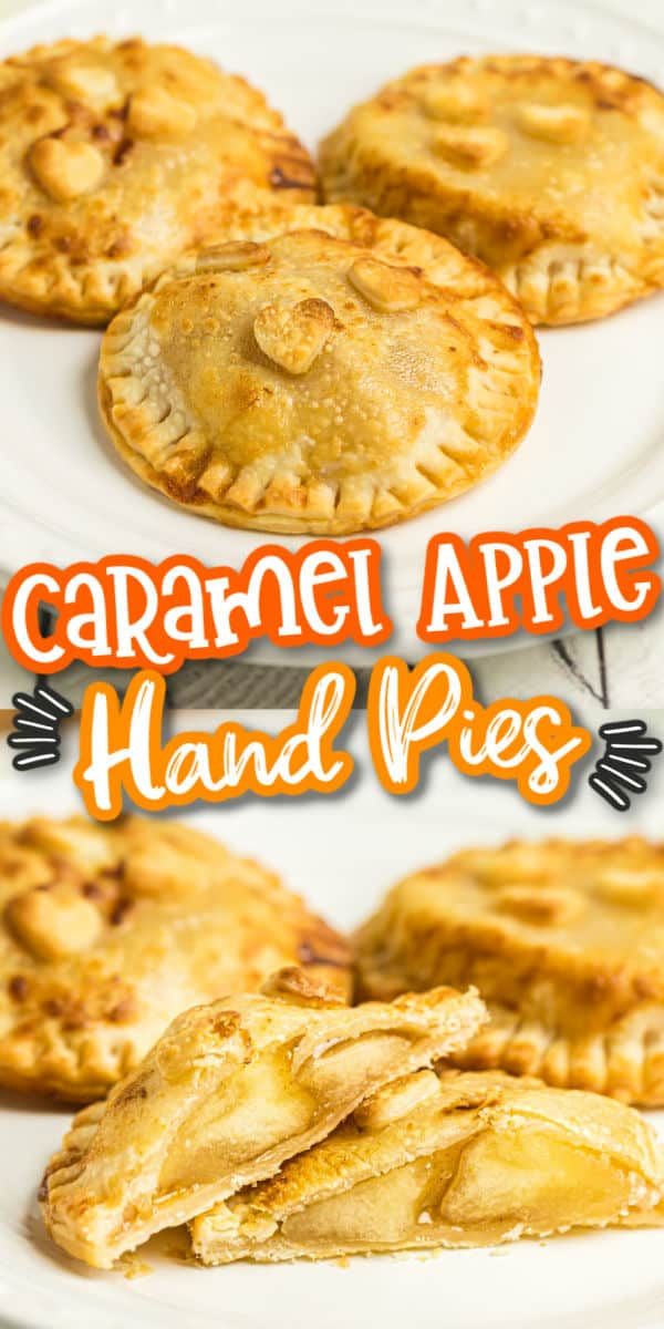 Caramel Apple Hand Pies pinterest image