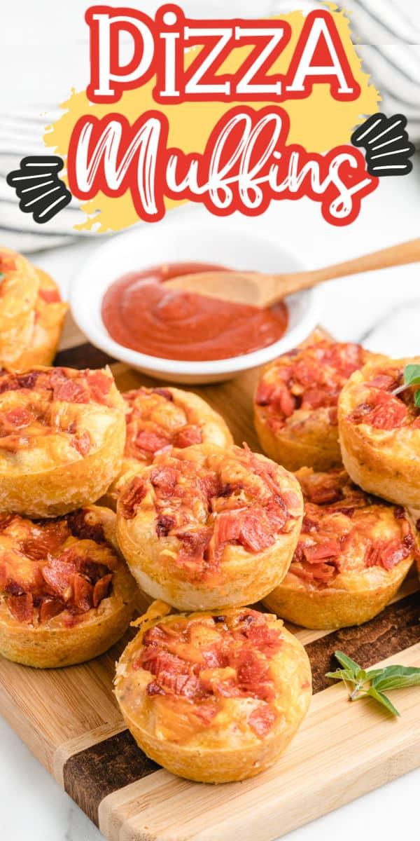Pizza muffins pinterest image