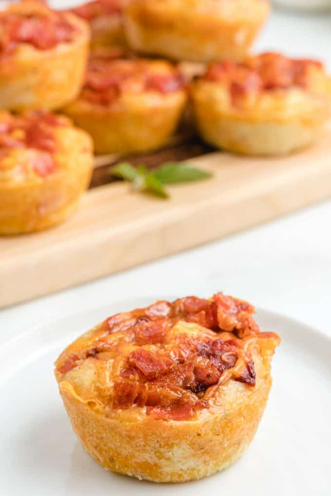 pizza muffin on a plate