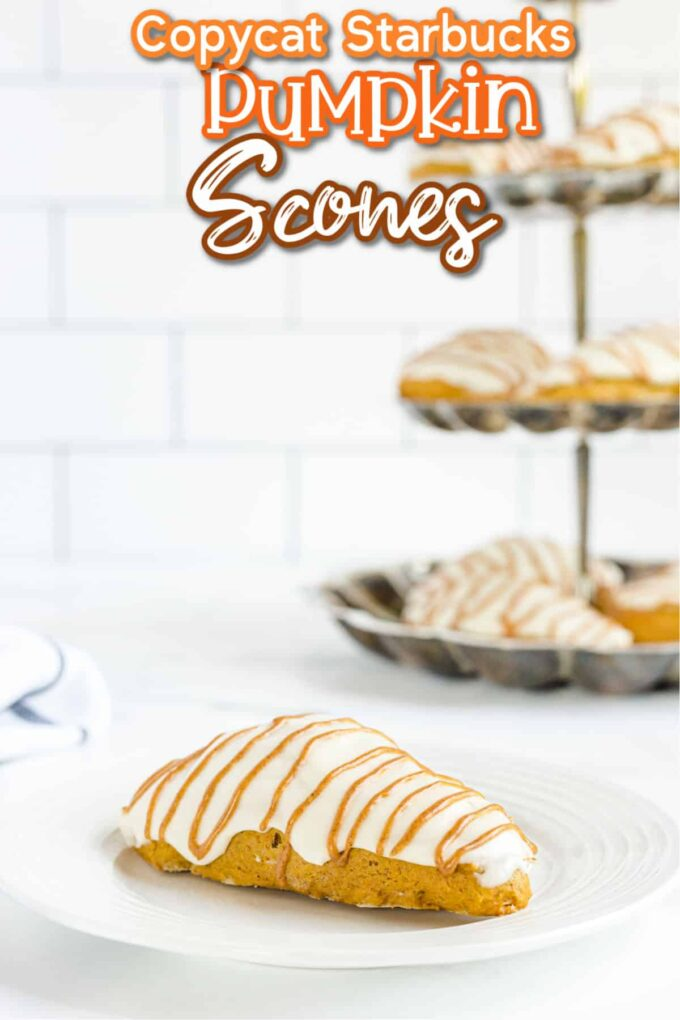pumpkin scone on a white plate