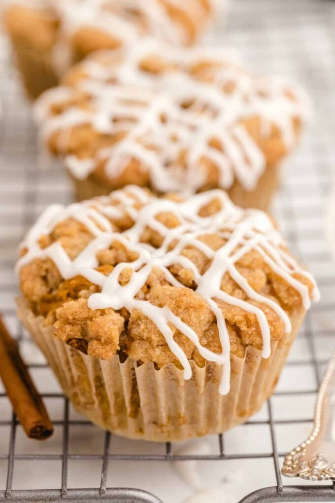 Pumpkin Muffins with icing