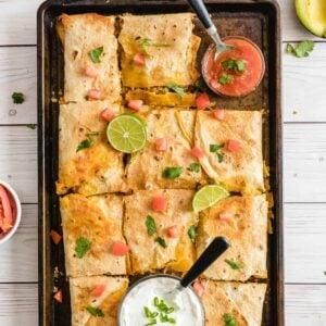Sheet Pan Quesadillas square