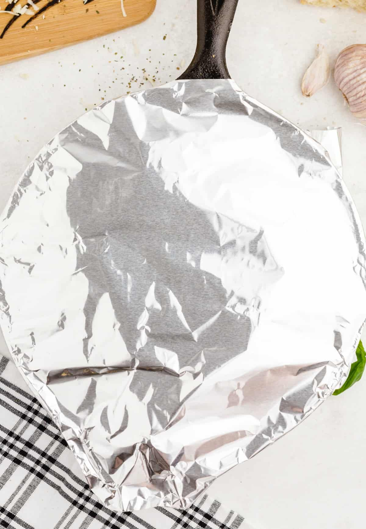 cover pan with foil