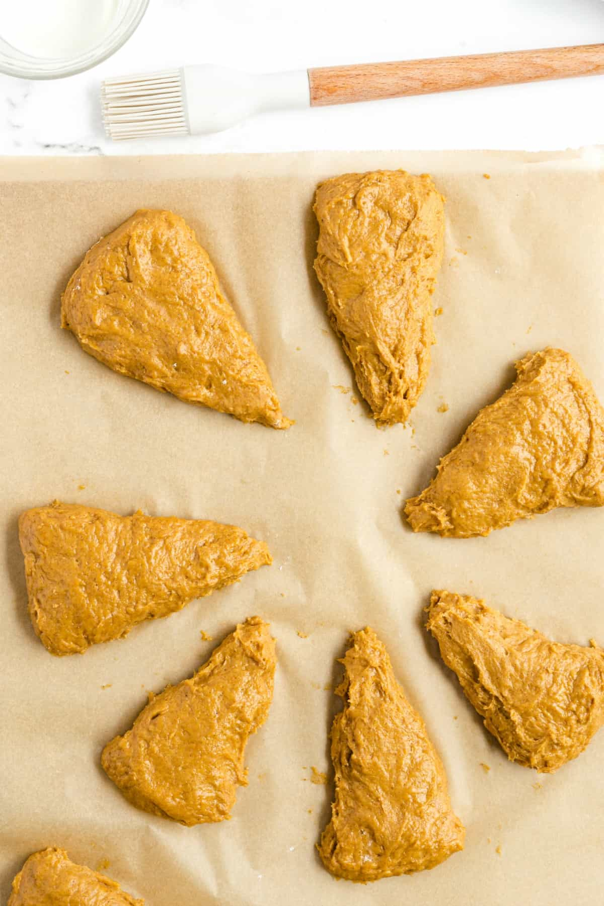 scones cut out into wedges