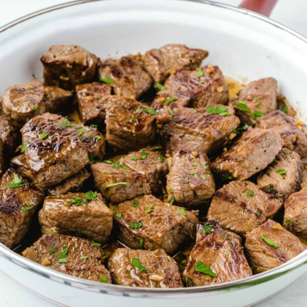 Garlic Butter Steak Bites featured square image