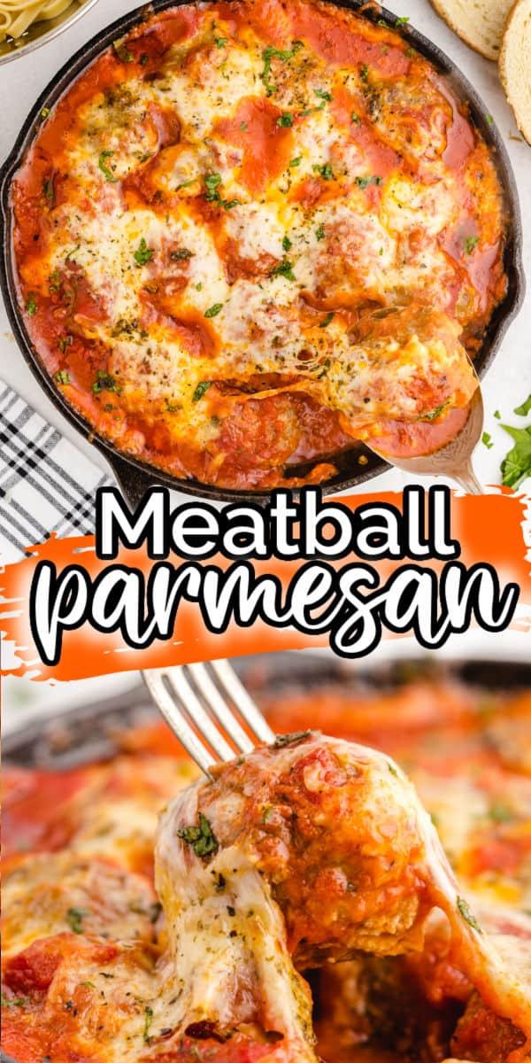Meatball Parmesan Pinterest Image