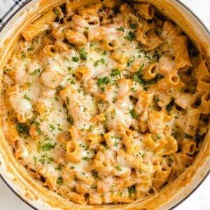 chicken parmesan pasta featured image