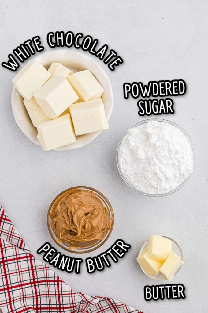 Peanut Butter Truffles ingredients