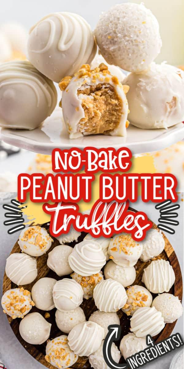 Peanut Butter Truffles Pinterest Image