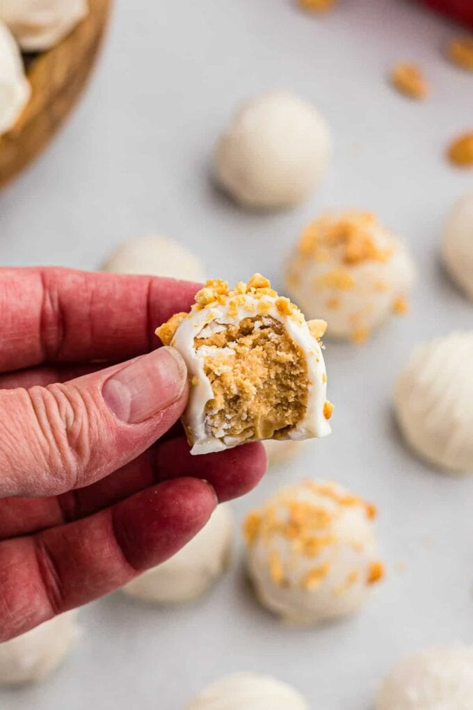 Peanut butter truffles with bite