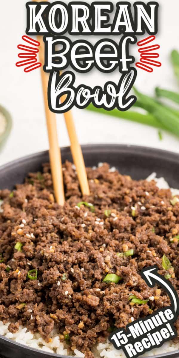 Korean Beef Bowl Pinterest Image