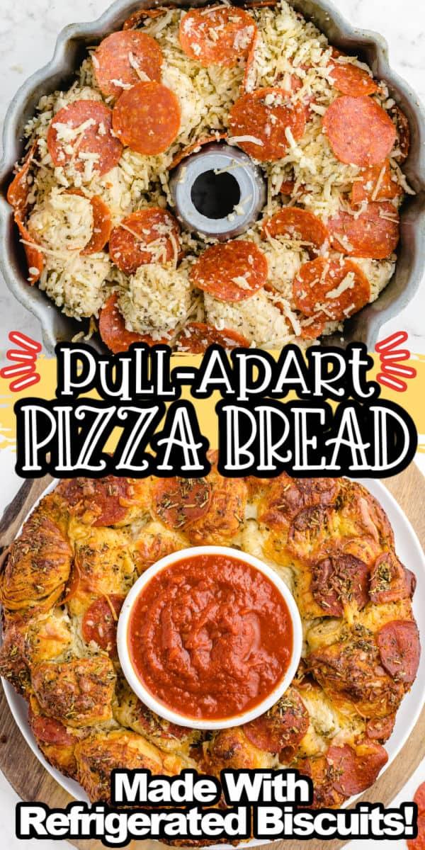Pull-Apart Pizza Bread Pinterest Image 2